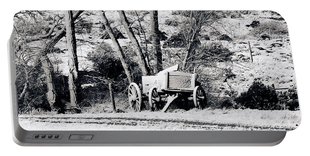 Wagon Portable Battery Charger featuring the photograph Snow Wagon by J L Woody Wooden