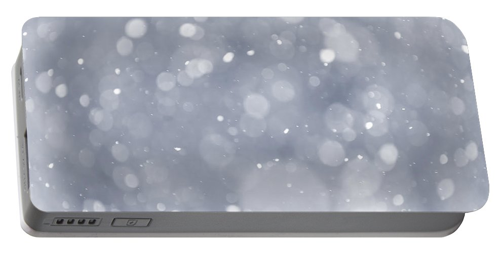 Snow Portable Battery Charger featuring the photograph Snowfall Background by Elena Elisseeva
