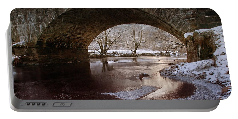 Snow Portable Battery Charger featuring the photograph Snowy Bridge by Beverly Cash