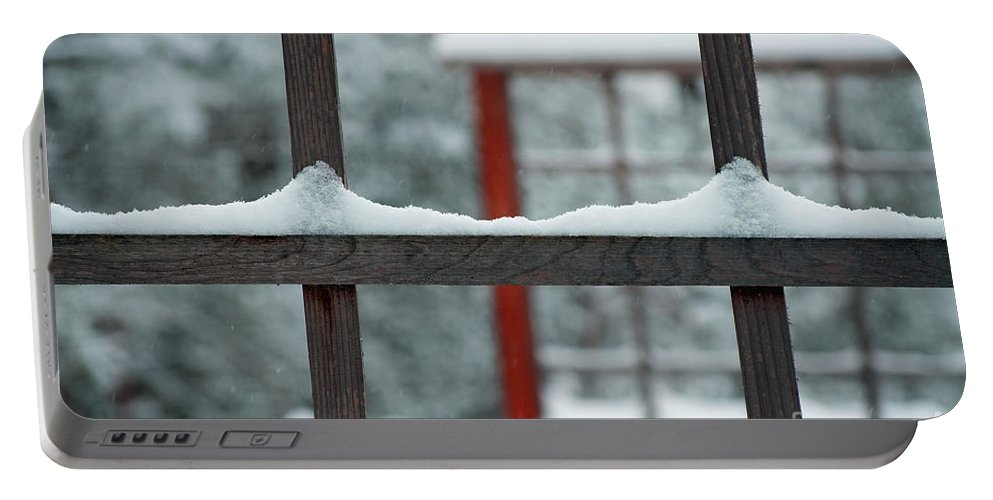 Snow Portable Battery Charger featuring the photograph Snowy Lines by Gwyn Newcombe