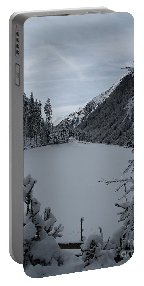 Snow Portable Battery Charger featuring the photograph Snowy Meadow by Christiane Schulze Art And Photography