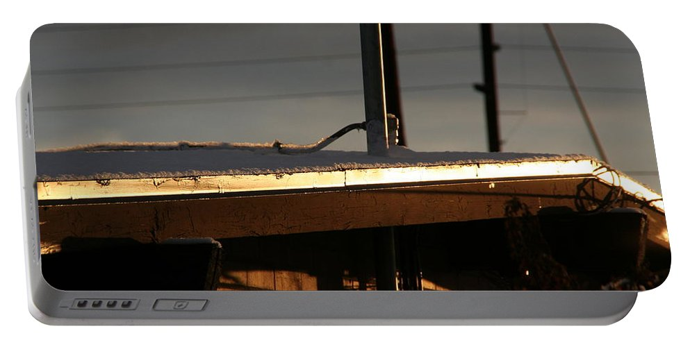 David S Reynolds Portable Battery Charger featuring the photograph Snowy Morning by David S Reynolds