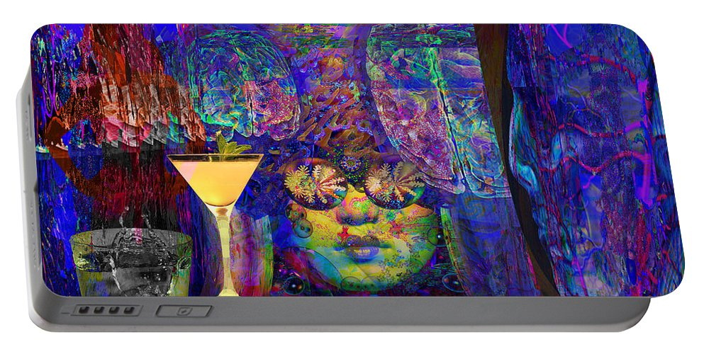Studio 54 Era Portable Battery Charger featuring the digital art Studio 54 Tribute New York by Joseph Mosley