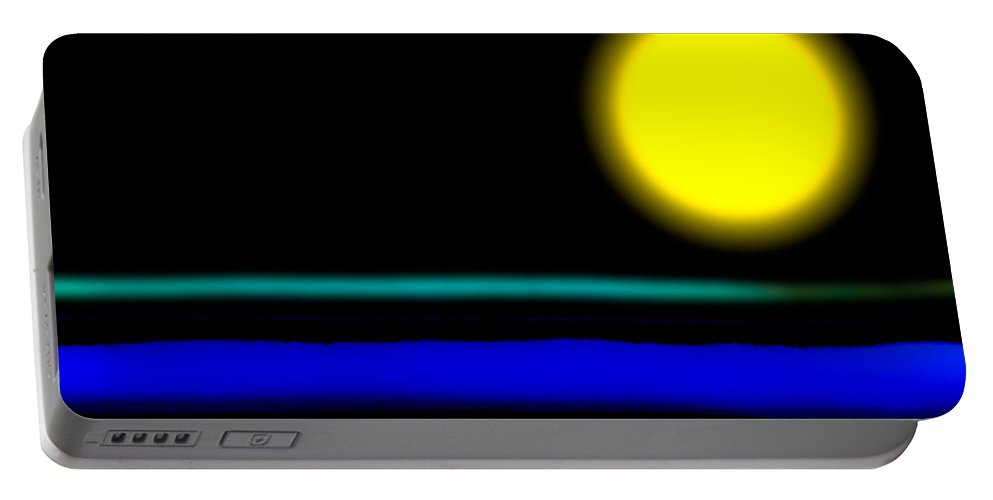 Abstract Portable Battery Charger featuring the photograph Soap Surface by Bob Orsillo
