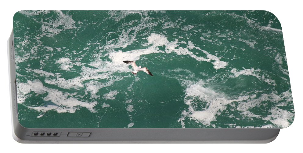 Water. Foam Portable Battery Charger featuring the photograph Soaring Over The Falls Waters by Jennifer E Doll