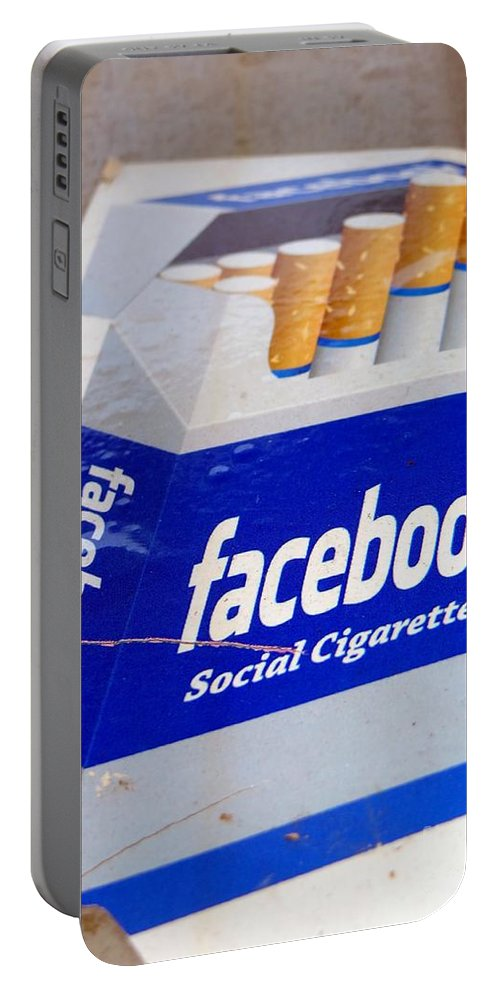 Cigarettes Portable Battery Charger featuring the photograph Social Cigarettes by Ed Weidman