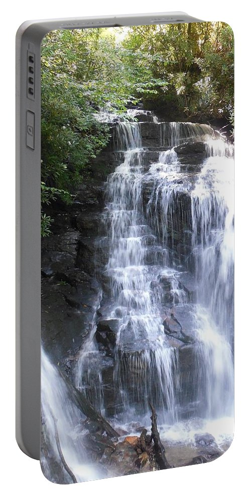 Plant Portable Battery Charger featuring the photograph Soco Falls by Mike Niday