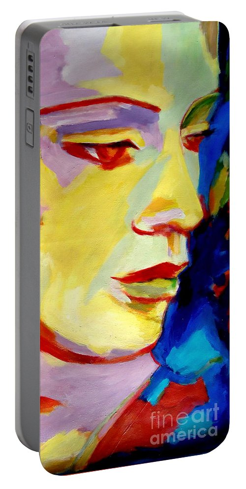 Splendid Portraits Portable Battery Charger featuring the painting Soft Shine by Helena Wierzbicki