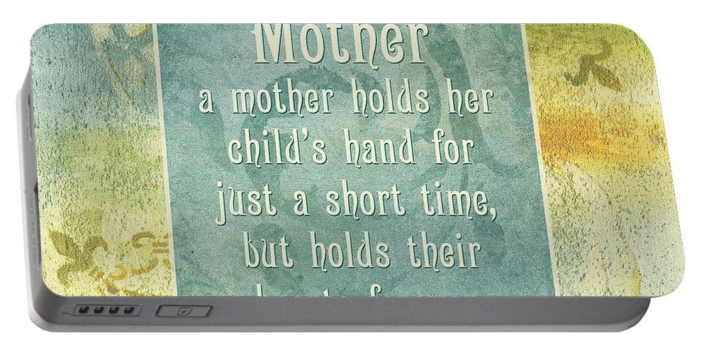 Mother Portable Battery Charger featuring the painting Soft Spa Mother's Day 1 by Debbie DeWitt