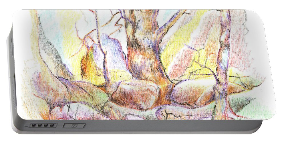 Softly Speaking Portable Battery Charger featuring the painting Softly Speaking by Kip DeVore