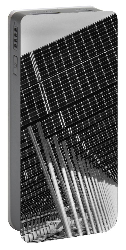 Solar Panels Portable Battery Charger featuring the photograph Solar City by Douglas Barnard