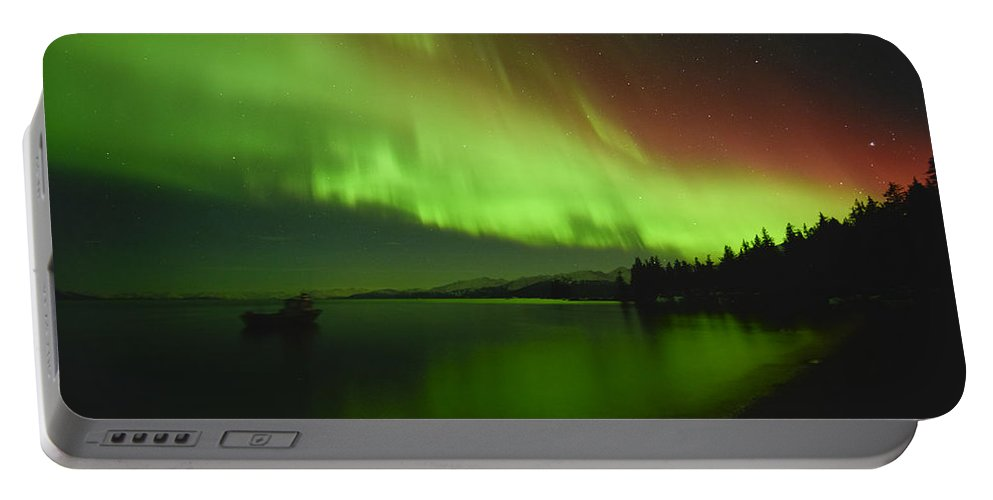 Aurora Portable Battery Charger featuring the photograph Solar Storm by Ted Raynor