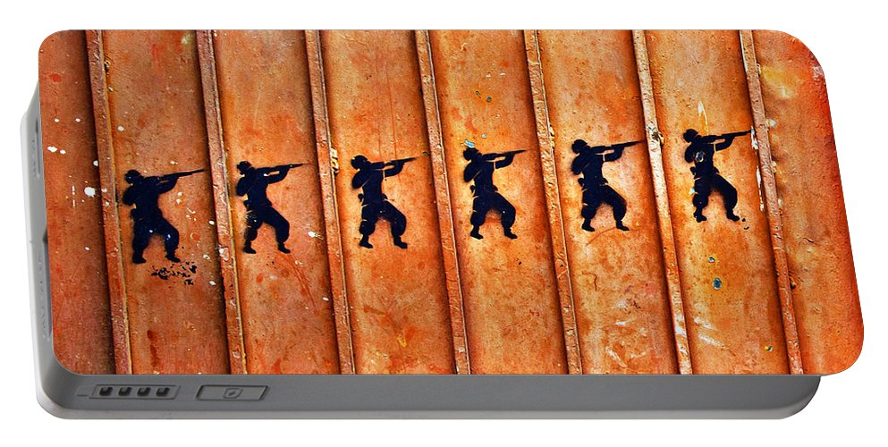 Abandoned Portable Battery Charger featuring the photograph Soldier Graffiti by Jess Kraft