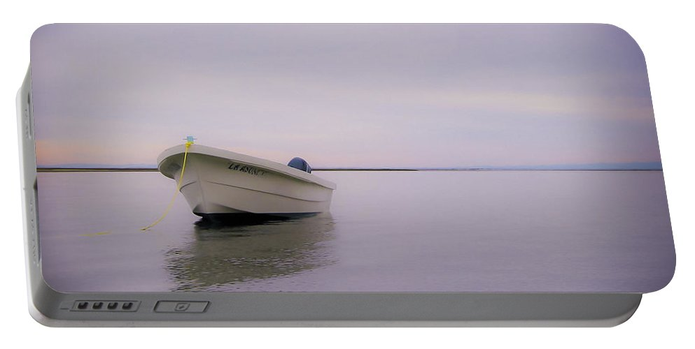 3scape Photos Portable Battery Charger featuring the photograph Solitary Boat by Adam Romanowicz