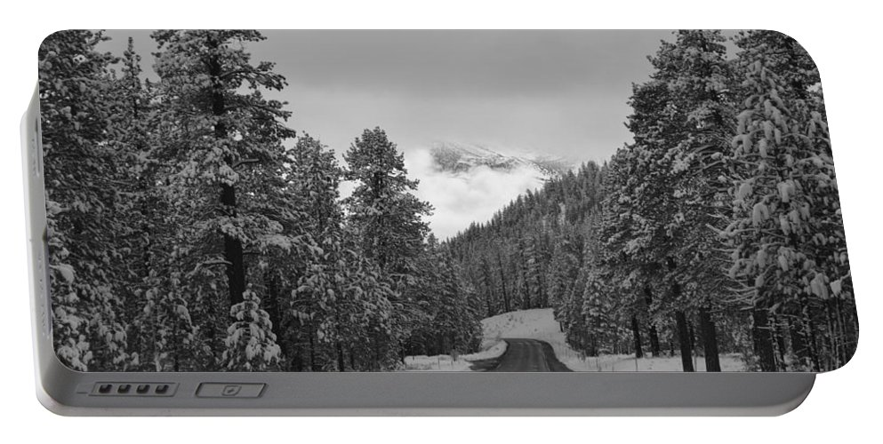 June Lake Portable Battery Charger featuring the photograph Solitude by Christine Owens