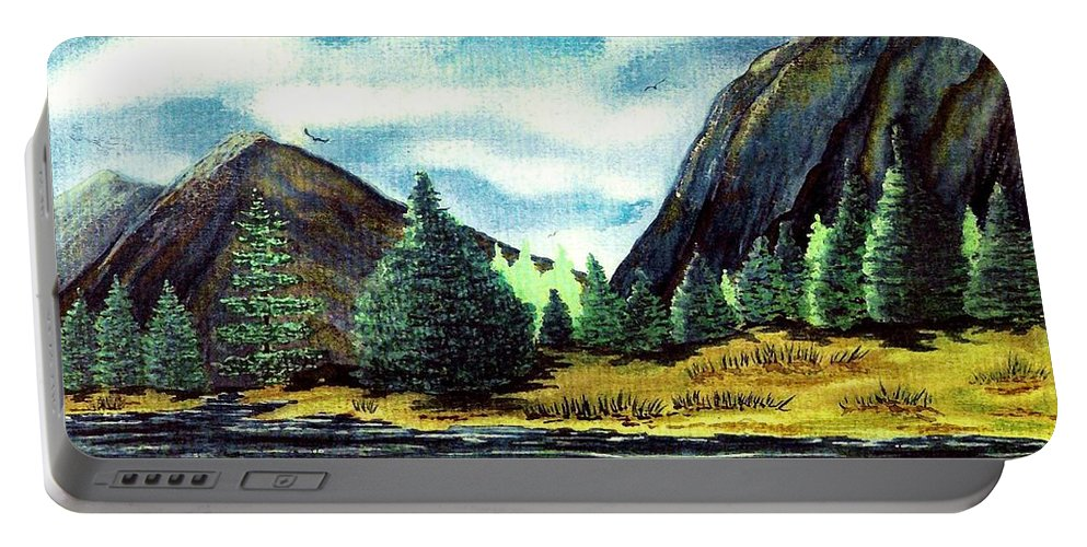 Fine Art Portable Battery Charger featuring the painting Solitude by Patricia Griffin Brett