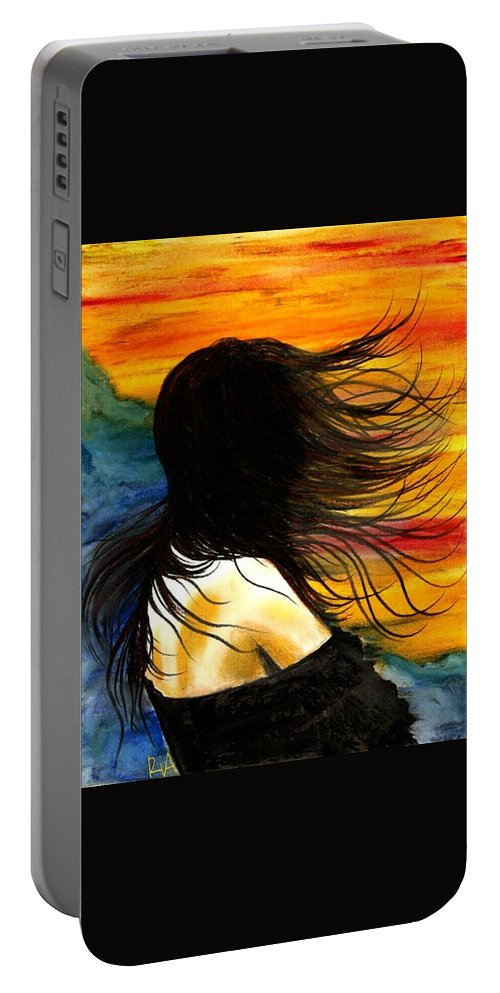 Beautiful Portable Battery Charger featuring the photograph Solo Mood by Artist RiA