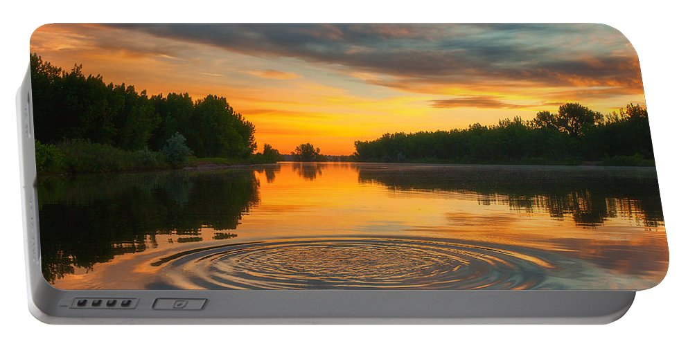 Reflection Portable Battery Charger featuring the photograph Solstice Ripples by Darren White