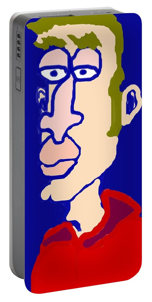 Somber Portable Battery Charger featuring the painting Somber by Pharris Art