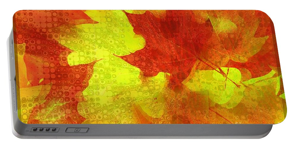 Something Like Autumn Portable Battery Charger featuring the digital art Something Like Autumn by Elizabeth McTaggart