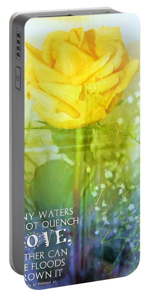Jesus Portable Battery Charger featuring the digital art Song Of Solomon 8 7 by Michelle Greene Wheeler
