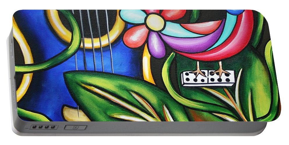 Cuba Portable Battery Charger featuring the painting Songbird by Annie Maxwell