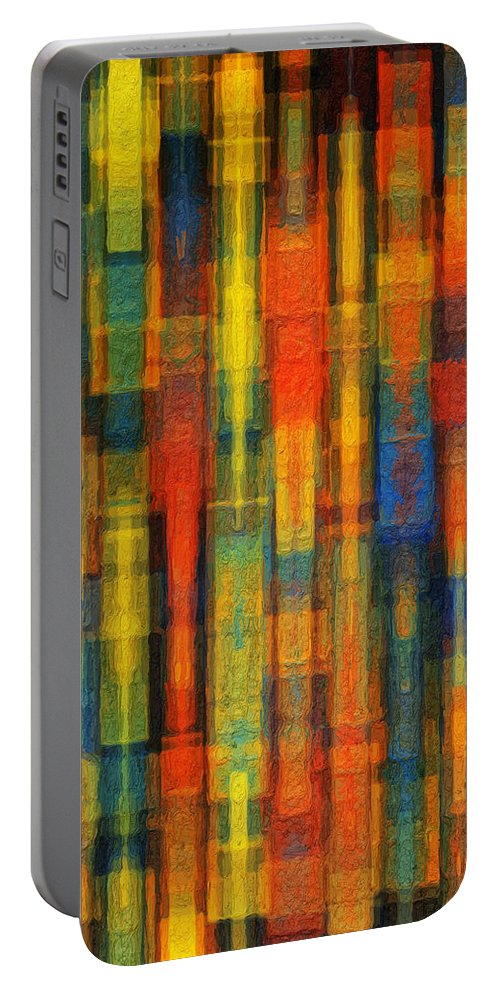Sonic Portable Battery Charger featuring the painting Sonic Dreams Of Glory by Sandy MacGowan