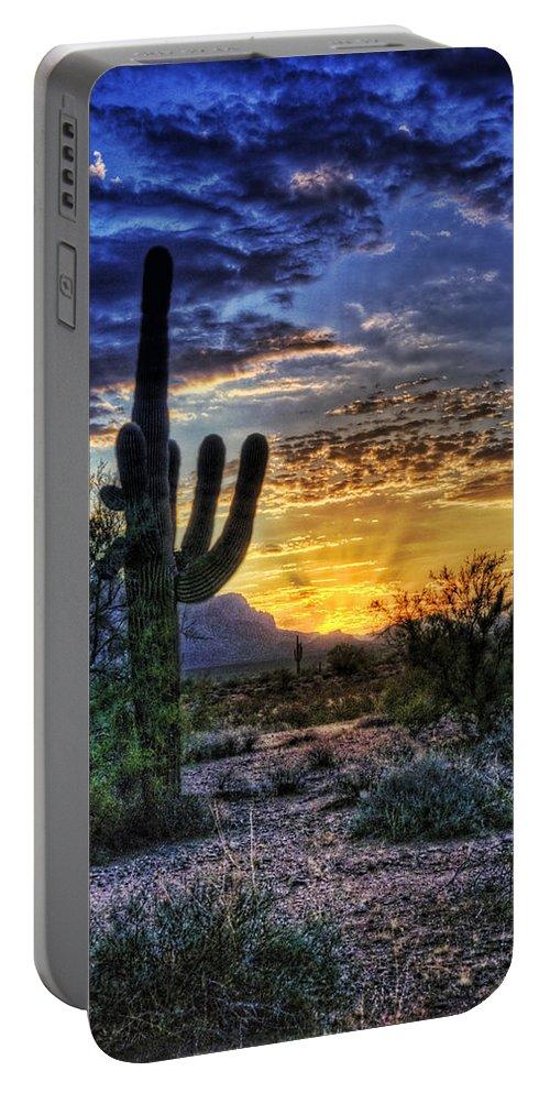 Sonoran Desert Portable Battery Charger featuring the photograph Sonoran Sunrise by Saija Lehtonen