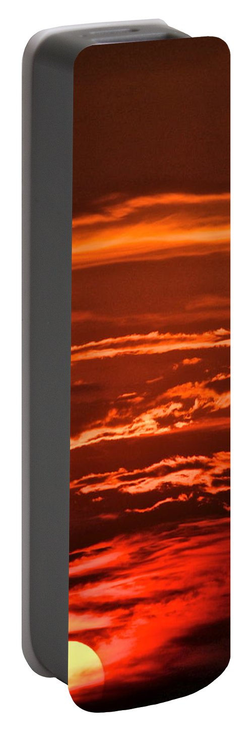 Sunset Portable Battery Charger featuring the photograph Soothing Saturday Sunset by Frozen in Time Fine Art Photography