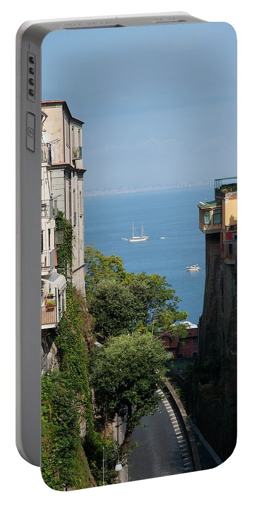 Amalfi Portable Battery Charger featuring the photograph Sorrento Views by Zina Zinchik
