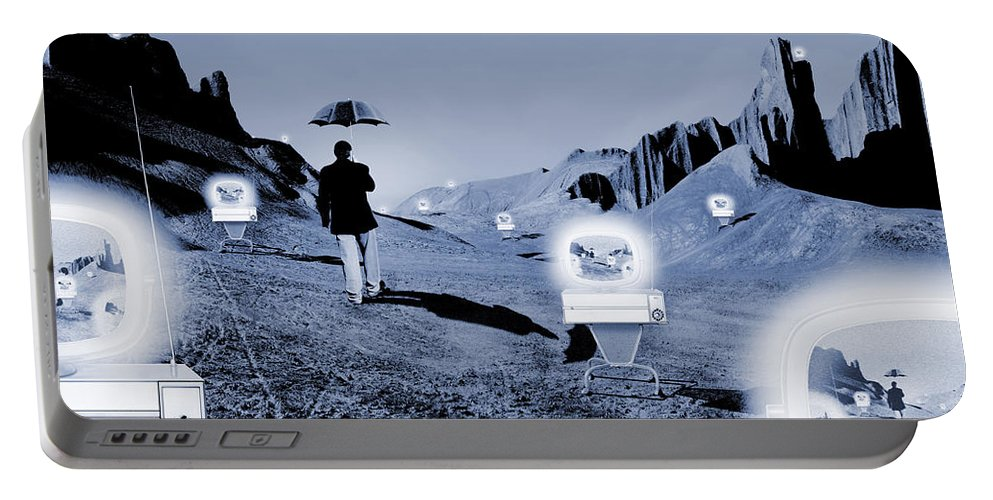 Surrealism Portable Battery Charger featuring the photograph SOS by Mike McGlothlen