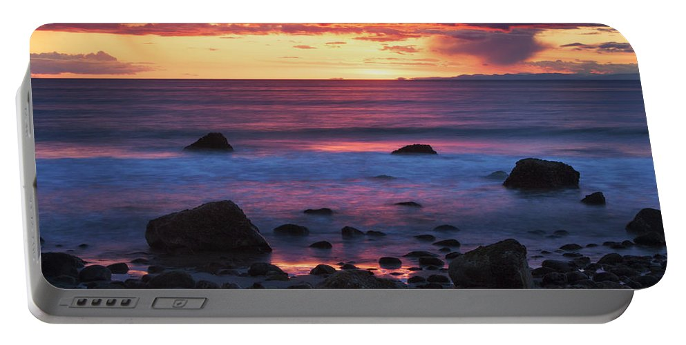 Rocks Portable Battery Charger featuring the photograph Sound Colors by Mark Kiver