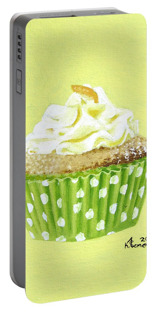 Cupcake Portable Battery Charger featuring the painting Sour Harmony by Kayleigh Semeniuk