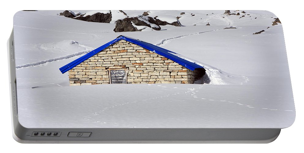 Nepal Portable Battery Charger featuring the photograph South Annapurna Base Camp - Nepal 04 by Aidan Moran