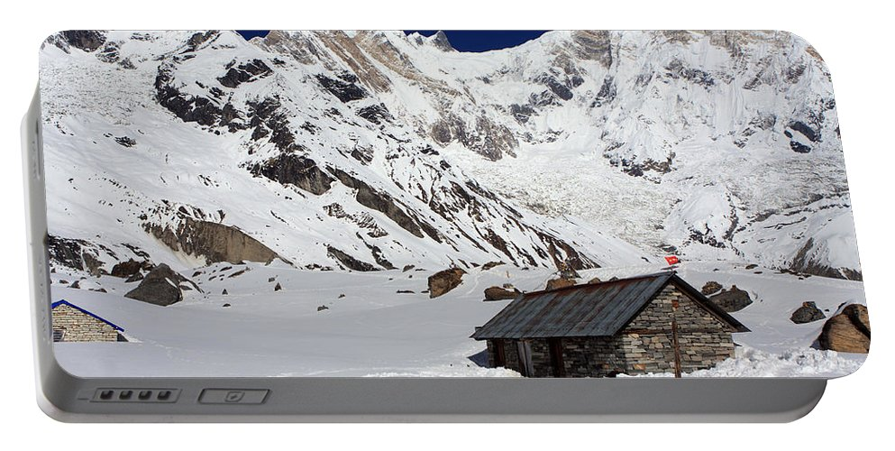 Nepal Portable Battery Charger featuring the photograph South Annapurna Base Camp - Nepal 05 by Aidan Moran