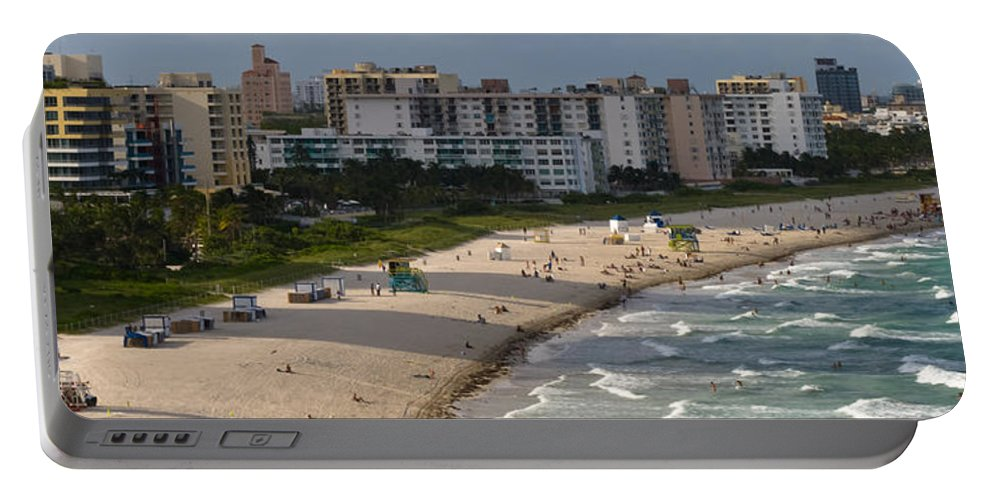 Afternoon Portable Battery Charger featuring the photograph South Beach Afternoon by Ed Gleichman
