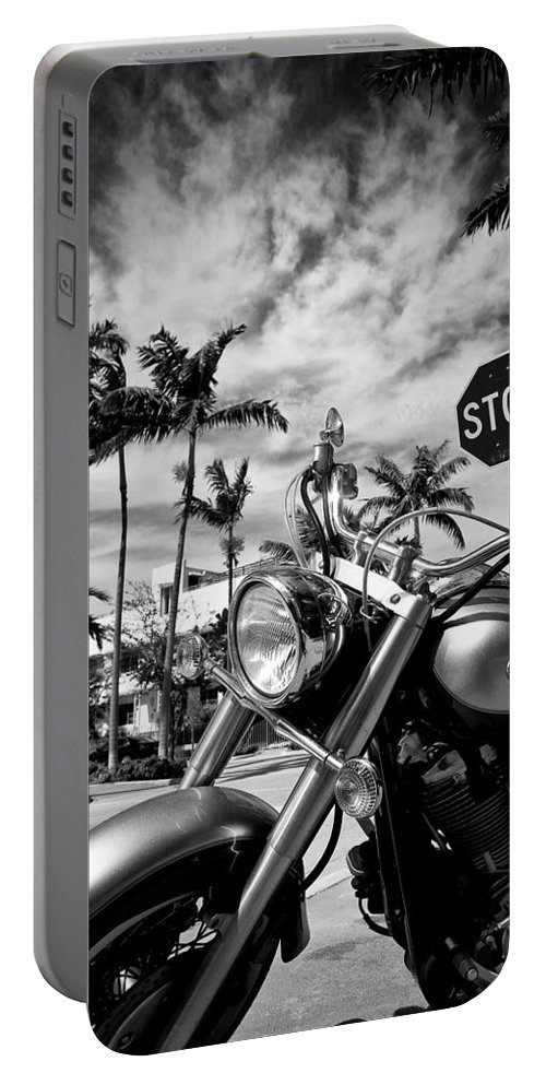 Bike Portable Battery Charger featuring the photograph South Beach Cruiser by Dave Bowman