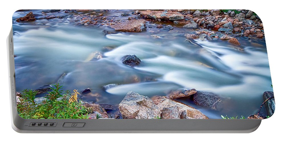 Creek Portable Battery Charger featuring the photograph South Boulder Creek Little Waterfalls Rollinsville by James BO Insogna