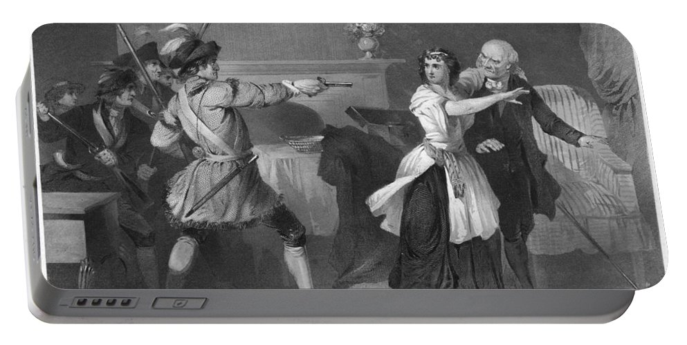 1780s Portable Battery Charger featuring the photograph South Carolina: Loyalists by Granger