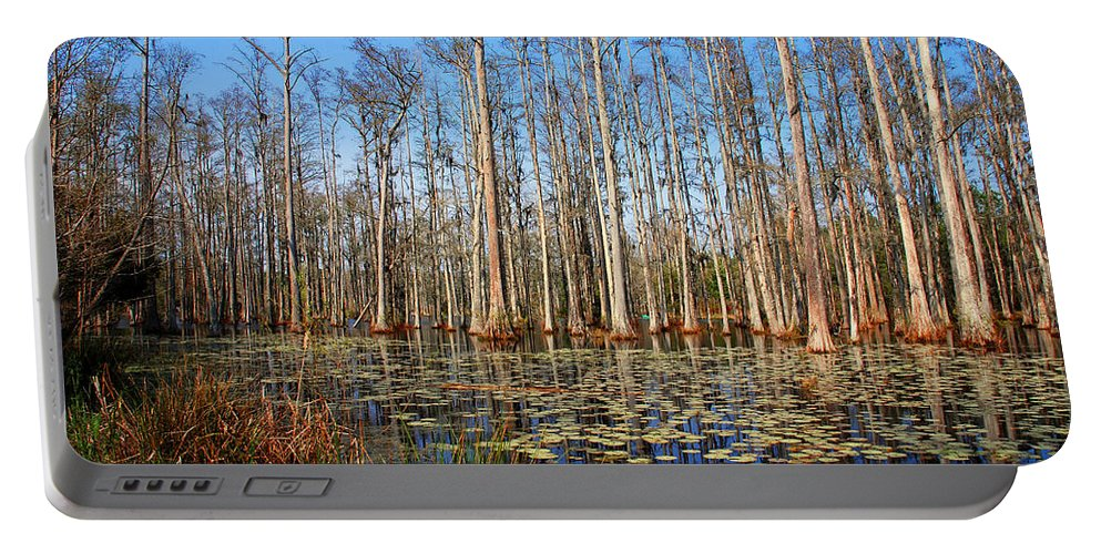 Photography Portable Battery Charger featuring the photograph South Carolina Swamps by Susanne Van Hulst