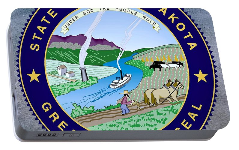 South Dakota State Seal Portable Battery Charger For Sale By Movie Poster Prints