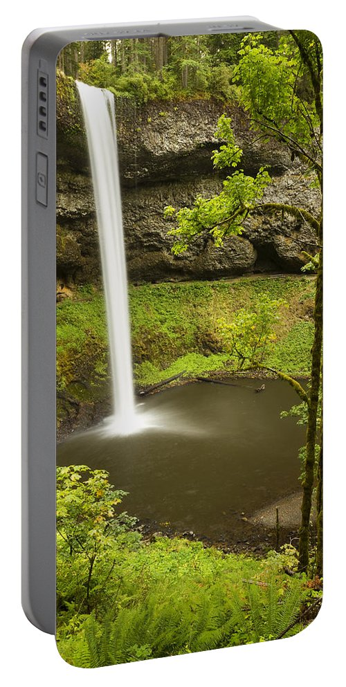 Water Portable Battery Charger featuring the photograph South Silver Falls 2 by John Brueske