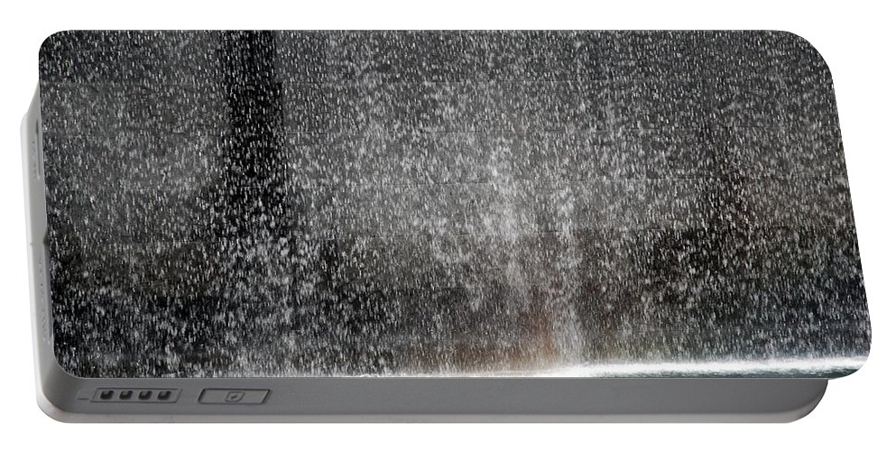 Wtc Portable Battery Charger featuring the photograph South Tower Water by Rob Hans