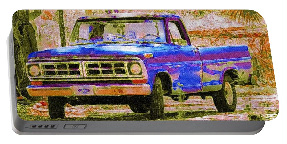 Old Truck Portable Battery Charger featuring the photograph Southern Ride Two by Patricia Greer