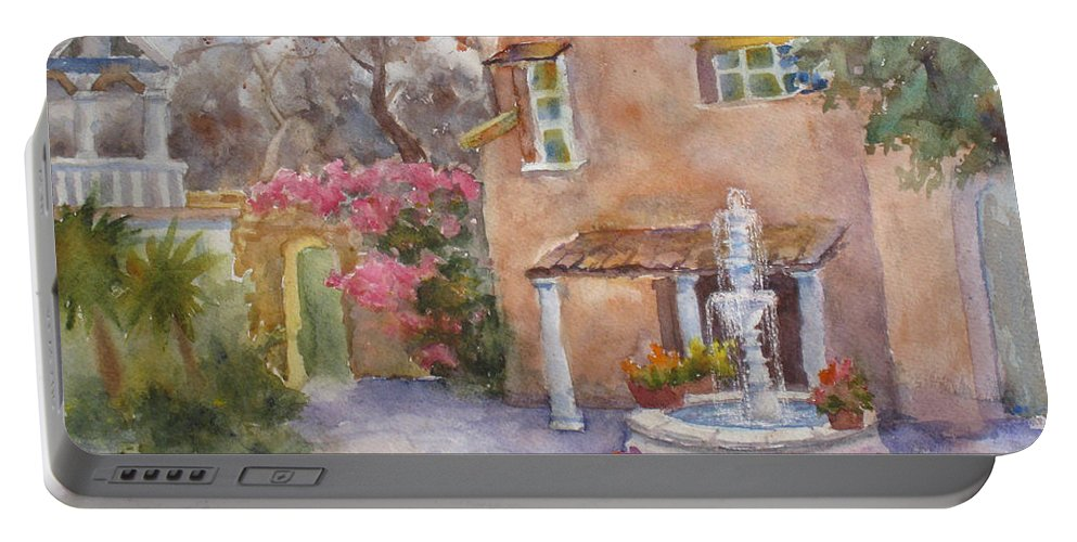 Hirjiart.com Portable Battery Charger featuring the painting Southwest Icon by Mohamed Hirji