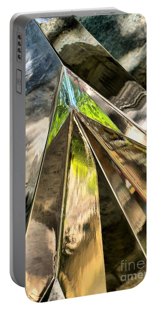 Abstract Portable Battery Charger featuring the photograph Space And Time by Lauren Leigh Hunter Fine Art Photography