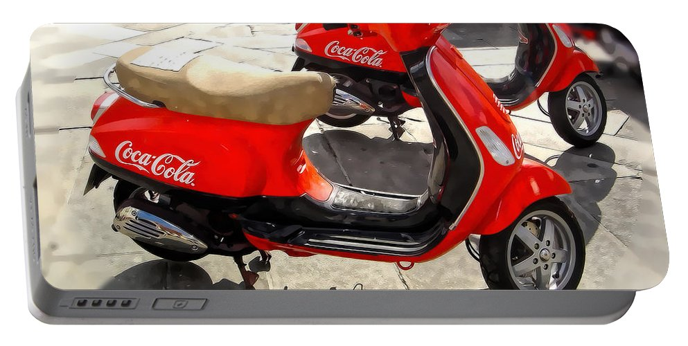 Motorcycle Portable Battery Charger featuring the photograph Spain Series 2 by Carlos Diaz