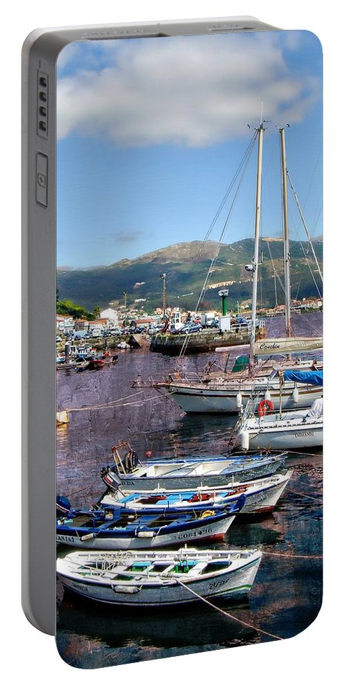 Spain Portable Battery Charger featuring the photograph Boats In Spain Series 26 by Carlos Diaz
