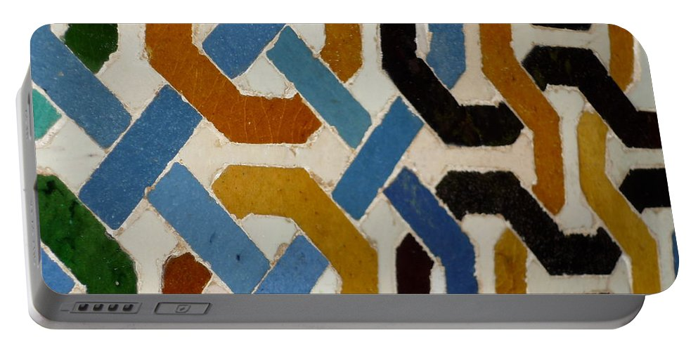 Colors Portable Battery Charger featuring the photograph Spain Wall by Kimberly Maxwell Grantier