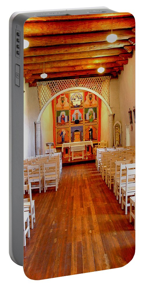 Architecture Portable Battery Charger featuring the photograph Spanish Mission Church New Mexico by Jeff Black